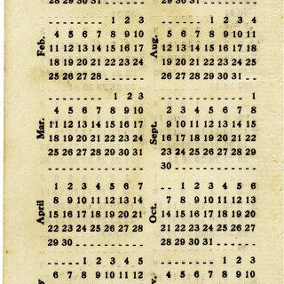 Shabby Calendar Pages for 1916, 1917