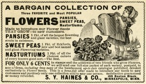 vintage magazine advertisement, girl watering flowers, vintage garden clipart, black and white garden clip art, old fashioned flowers ad