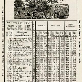 Free Vintage Image ~ Herrick's Almanac 1906, September