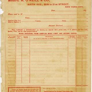 Free Vintage Ephemera ~ 1890s Shabby Catalogue Order Form