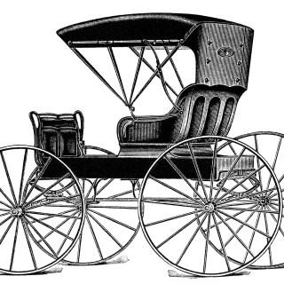 Horse Drawn Buggy ~ Free Vintage Clip Art