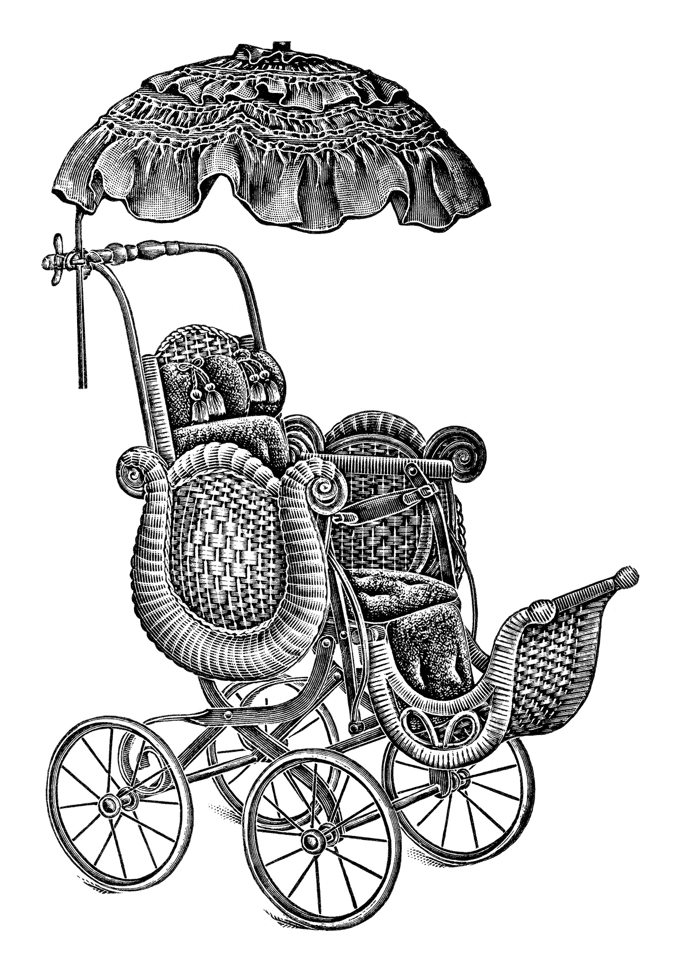 Baby Stroller Clipart Black And White Baby Strollers Free Vintage Clip Art Old Design Shop Blog