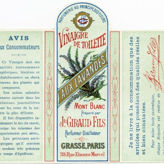 Free Vintage Image ~ Jn Giraud Fils Perfume Bottle French Label