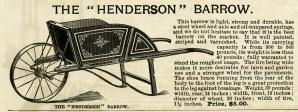 vintage garden clipart, old fashioned wheel barrow, henderson barrow image, free black and white clip art, antique wheelbarrow illustration
