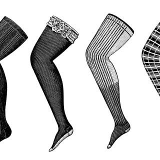 Victorian Ladies' Hosiery Clip Art