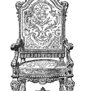 Free Vintage Image ~ Ornate Chair Clip Art