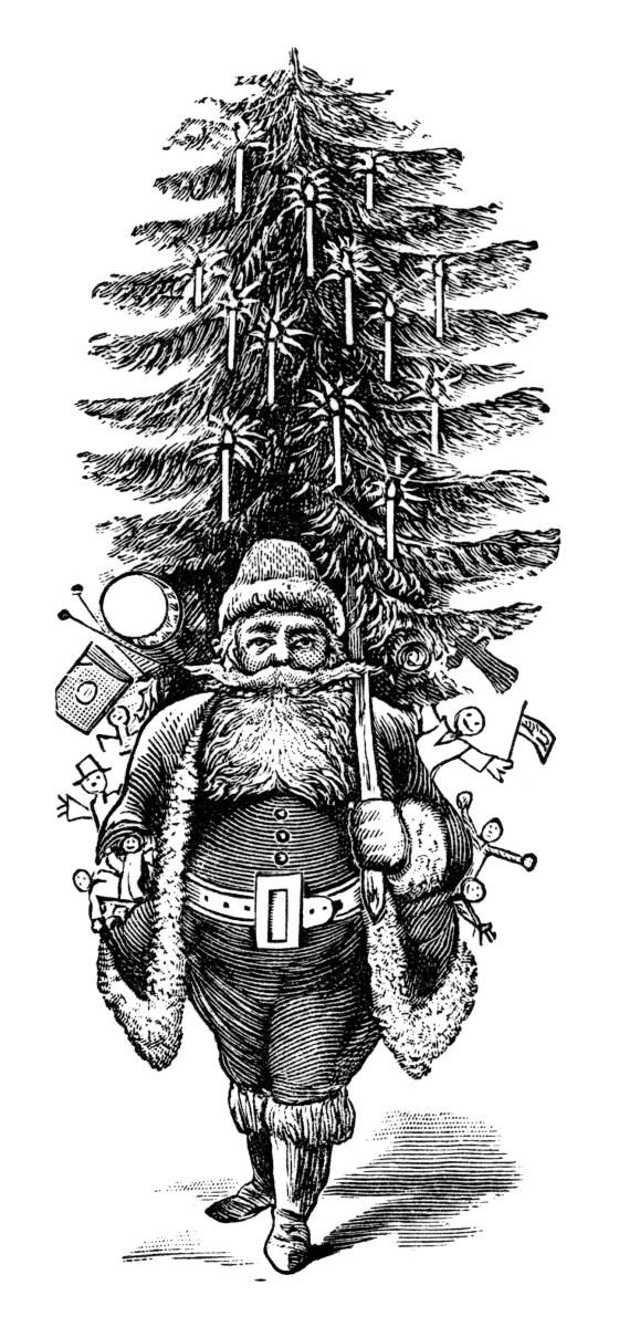 Vintage Santa Clip Art Free Download Old Design Shop Blog