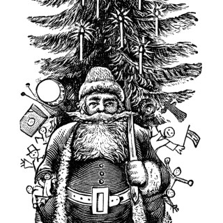 Vintage Santa Clip Art ~ Free Download