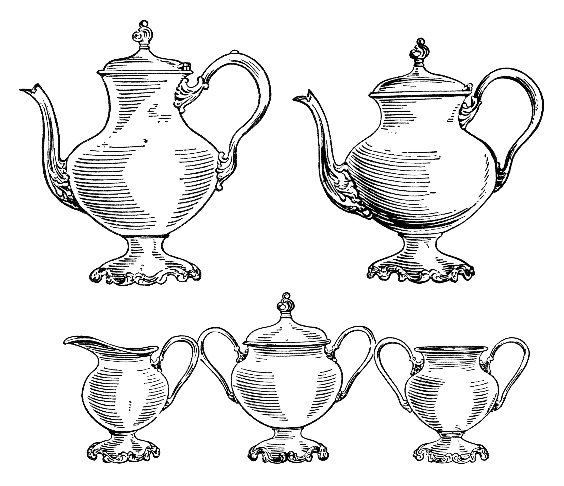 Free Clip Art Coffee Urn Coffee And Tea Set Old Design Shop Blog