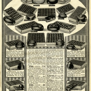 Chocolates Vintage Printable Catalogue Page
