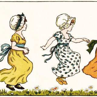 Kate Greenaway The Little Jumping Girls ~ Free Vintage Illustration