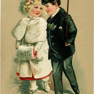 Victorian Girl and Boy Formal