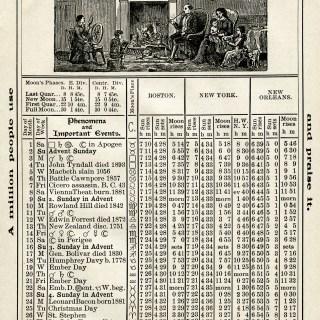 Free Vintage Image ~ Herrick's Almanac 1906, December