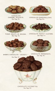 chocolate dessert image, old cookbook page printable food graphic, vintage chocolate clipart, baking clip art