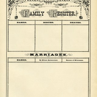 Antique Form of Family Record ~ Free Digital Graphics
