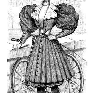 Vintage French Bicycle Outfit for Ladies ~ Free Magazine Ad and Clip Art