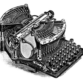 Antique Williams Typewriter ~ Magazine Ad and Clip Art