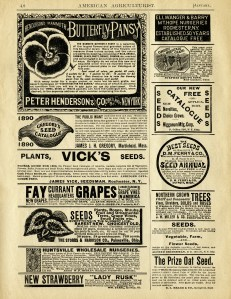 old book page, vintage garden printable, vintage magazine advert, aged paper graphic, antique seed catalog ad