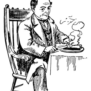 Atmore's Man Eating Pie Vintage Magazine Ad and Clip Art ~ Free Graphics