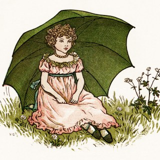 The Little London Girl by Kate Greenaway ~ Free Vintage Storybook Image