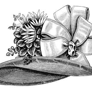 Ladies' Victorian Hat ~ Free Vintage Clip Art