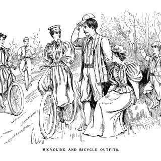 Bicycle and Bicycling Outfits 1895 ~ Free Vintage Graphics