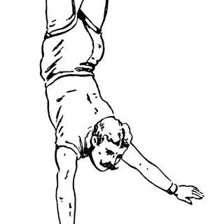 Vintage Circus Acrobat ~ Free Clip Art