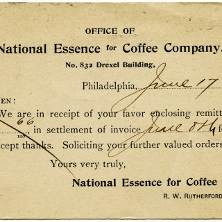 Vintage Coffee Business Postcard ~ Free Graphics