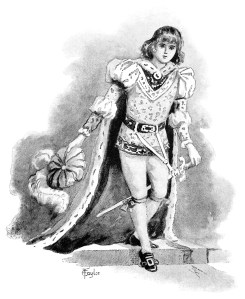 vintage fairytale prince, storybook clip art, black and white clipart, handsome Victorian prince, sunbeams and me, Raphael Tuck