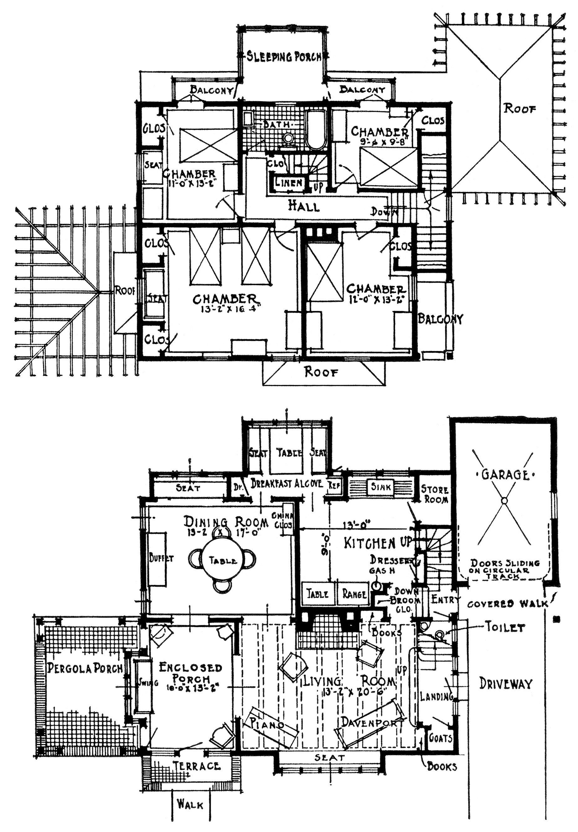 Vintage homes with attached garages free vintage image for Antique house floor plans