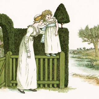 My Little Girlie by Kate Greenaway ~ Free Vintage Storybook Image