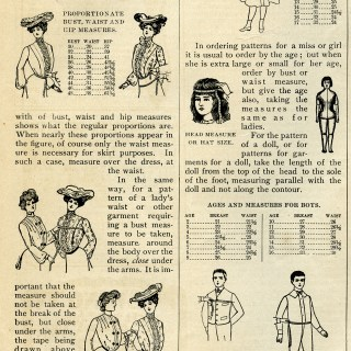 Measuring for Patterns ~ Free Vintage Sewing Image
