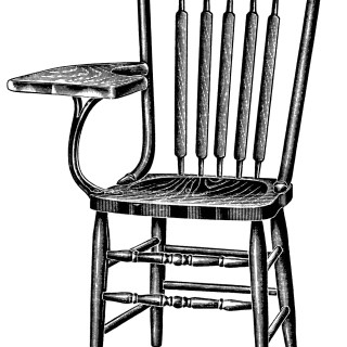 Tablet Arm Chairs ~ Free Vintage Clip Art