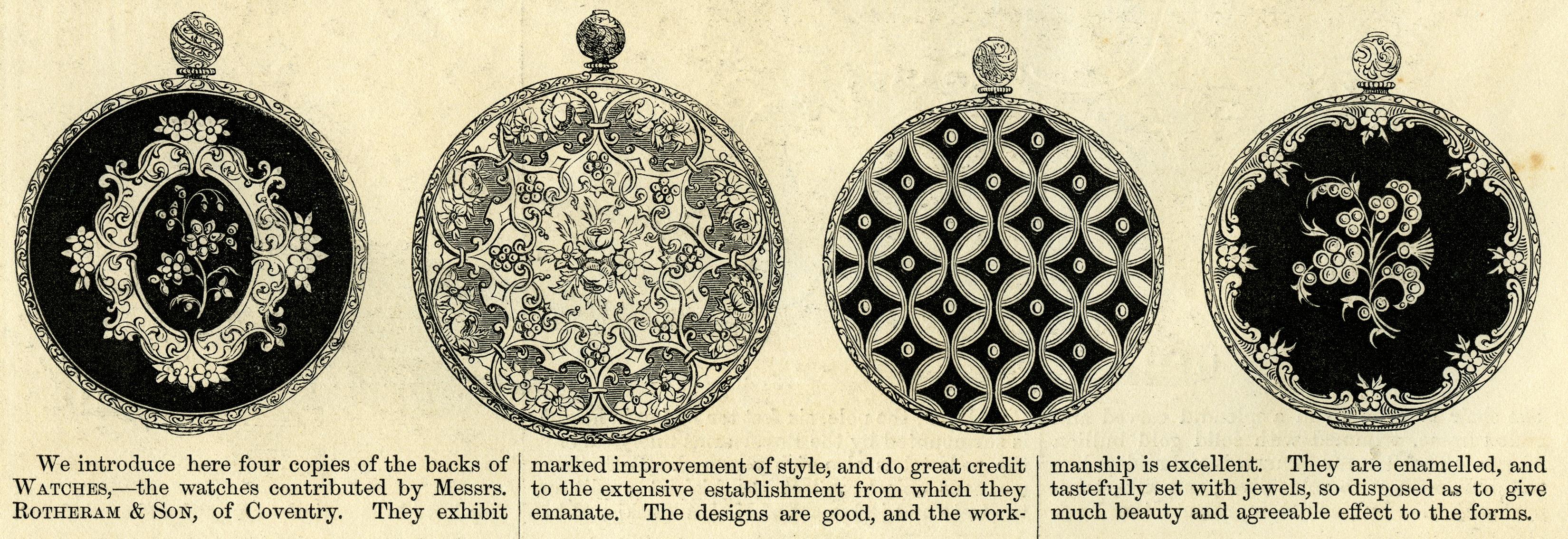 Victorian Watch Backs ~ Free Vintage Clip Art | Old Design ...