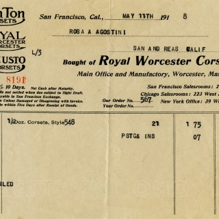 Royal Worcester Corset Invoice ~ Free Vintage Image