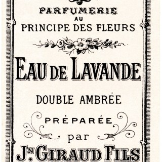 French Eau de Lavande Label ~ Free Vintage Clip Art