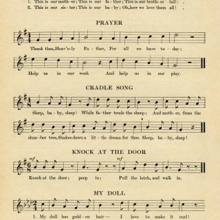 Kindergarten Songs for Sept ~ Free Vintage Graphic