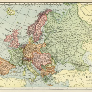 Map of Europe ~ Free Vintage Image