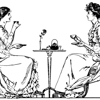 Victorian Tea Time ~ Free Clip Art