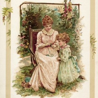 The Knitting Lesson ~ Free Vintage Storybook Image
