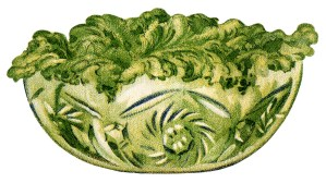 Yacht Club food, vintage salad clip art, old fashioned salad illustration, vintage cookbook page, free digital food graphics