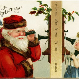 Phone Call with Santa ~ Clapsaddle Postcard Image