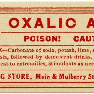 Oxalic Acid Poison Label ~ Free Vintage Clip Art