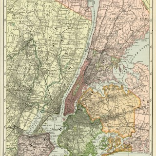 Map of New York City ~ Free Vintage Image