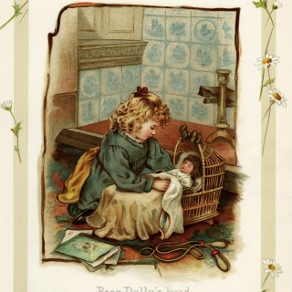 Dolly's Tired ~ Free Vintage Storybook Illustration