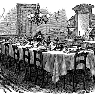 Victorian Table Setting ~ Free Clip Art