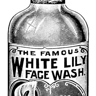 White Lily Face Wash ~ Free Vintage Clip Art