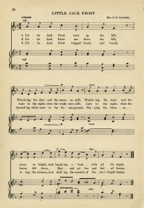 free vintage ephemera, jack frost song, sheet music graphic, aged paper printable, old music page