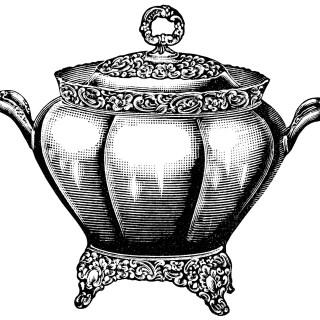 Soup Tureen ~ Free Vintage Clip Art