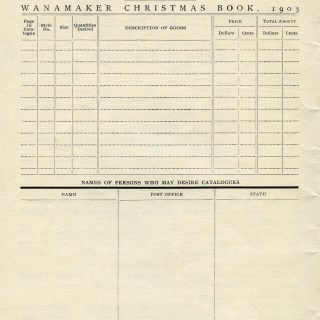 Christmas Order Form ~ Free Vintage Graphics